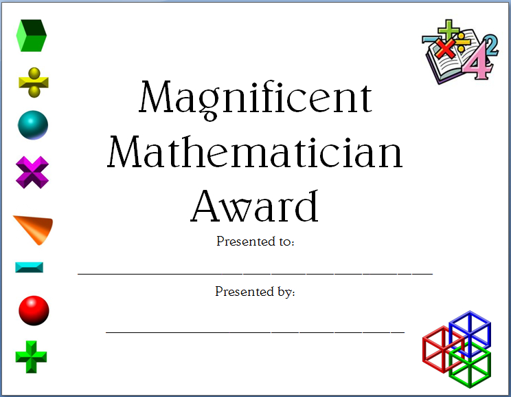 Completely Editable Math Certificate For Elementary And Inside Best Job Well Done Certificate Template 8 Funny Concepts