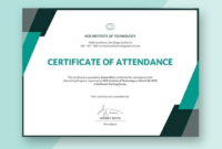 Conference Certificate Of Attendance Template (7 with Unique Blessing Certificate Template Free 7 New Concepts