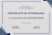 Conference Certificate Of Attendance Template In 2020 with Fresh Free Choir Certificate Templates 2020 Designs