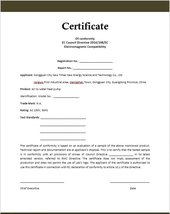Conformity Certificate Templates – 10 Free Sample Templates Intended For Best Conformity Certificate Template