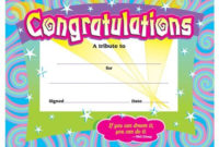 Congratulations Award, T-2954 | Certificate Of Achievement throughout Congratulations Certificate Template