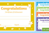 Congratulations Certificate Template with Student Council Certificate Template 8 Ideas Free