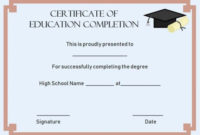 Continuing Education Certificate Of Completion Template with regard to Unique Ceu Certificate Template