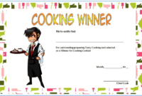Cooking Competition Certificate Template Free For Winner 3 for Fresh Cooking Contest Winner Certificate Templates
