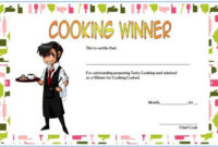 Cooking Competition Certificate Template Free For Winner 3 with regard to Certificate Of Cooking 7 Template Choices Free