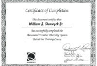 Course Completion Certificate Sample New Free Course Pletion intended for Unique Training Completion Certificate Template 10 Ideas