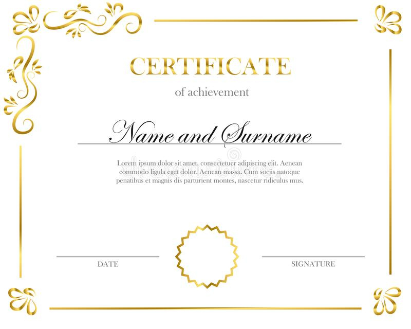 Creative Certificate, Diploma. Frame For Diploma With Fresh Handwriting Certificate Template 10 Catchy Designs