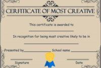Creative Most Likely To Award | Award Certificates, Most throughout Most Likely To Certificate Template Free