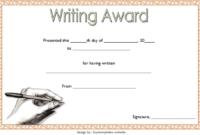 Creative Writing Award Certificate Template Free 1 In 2020 throughout Fresh Handwriting Award Certificate Printable