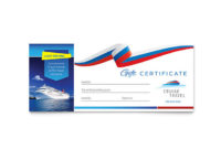 Cruise Travel Gift Certificate Template Design with Fresh Travel Gift Certificate Templates