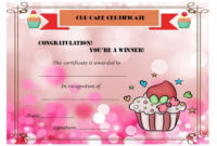 Cup Cake War Winner Certificate | Cake Competition, Cupcake in Bake Off Certificate Templates