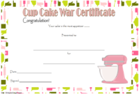 Cupcake Wars Certificate Free Printable 1   Certificate for Bake Off Certificate Templates