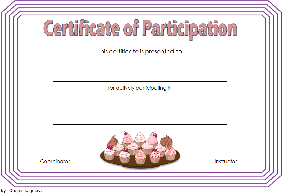 Cupcake Wars Certificate Of Participation Free 2 | Cupcake Intended For Certificate For Baking 7 Extraordinary Concepts