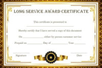 Customer Service Award Certificate: 10 Templates That Give with Merit Certificate Templates Free 10 Award Ideas
