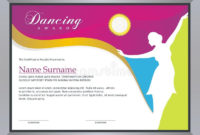 Dance Award Certificate Stock Illustrations – 23 Dance Award for Dance Certificate Templates For Word 8 Designs