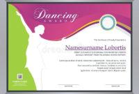 Dance Award Certificate Stock Illustrations – 23 Dance Award pertaining to Dance Award Certificate Template