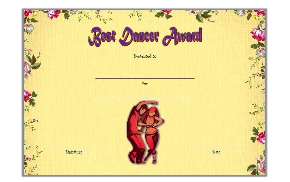 Dance Award Certificate Template Free (1St Idea) In 2020 Intended For Dance Award Certificate Template