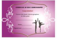 Dance Certificate Template – 26+ Free Certificates For Dance inside Dance Certificate Templates For Word 8 Designs