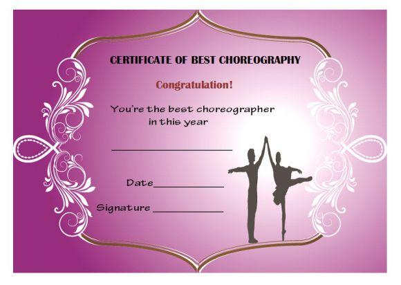 Dance Certificate Template - 26+ Free Certificates For Dance Inside Dance Certificate Templates For Word 8 Designs