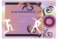 Dance Certificate Template – 26+ Free Certificates For Dance intended for Fresh Hip Hop Dance Certificate Templates