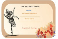 Dance Certificate Template – 26+ Free Certificates For Dance with regard to Dance Certificate Templates For Word 8 Designs