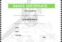 Dance #Certificate #Template | Certificate Templates, Awards intended for Dance Award Certificate Templates