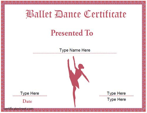 Dance Certificate Template In 2020 | Certificate Templates Pertaining To Unique Ballet Certificate Template