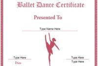 Dance Certificate Template In 2020 | Certificate Templates within Fresh Ballet Certificate Templates