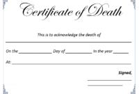Death Certificate Template – Microsoft Word Templates with regard to Death Certificate Template
