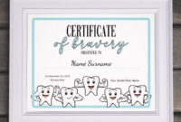 Dentist Certificate Of Bravery Editable Kids Certificate for Fresh Bravery Certificate Template 10 Funny Ideas
