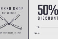Design Your Own Barber Shop Gift Certificate throughout Fresh Barber Shop Certificate Free Printable 2020 Designs