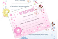 Details About Winner Certificates – Baby Shower Party Games Prize, 10/20  Pack Pink Blue Unisex with regard to Unique Baby Shower Winner Certificates