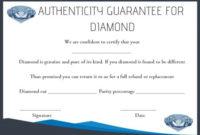 Diamond Certificate Of Authenticity Template   Simple Words in Certificate Of Authenticity Templates