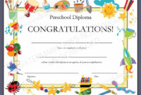 Diploma/Certificate For Preschool Or Daycare: Printable Pdf in Daycare Diploma Certificate Templates