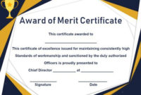 District Award Of Merit Certificate Template: 10 Free And inside Fresh Merit Award Certificate Templates