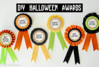 Diy Halloween Costume Award! (Prize Ribbons) intended for Halloween Costume Certificates 7 Ideas Free