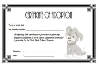 Dog Adoption Certificate Free Printable (1St Design) In 2020 For Unique Pet Adoption Certificate Editable Templates