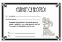 Dog Adoption Certificate Free Printable (1St Design) In 2020 for Unique Pet Adoption Certificate Editable Templates