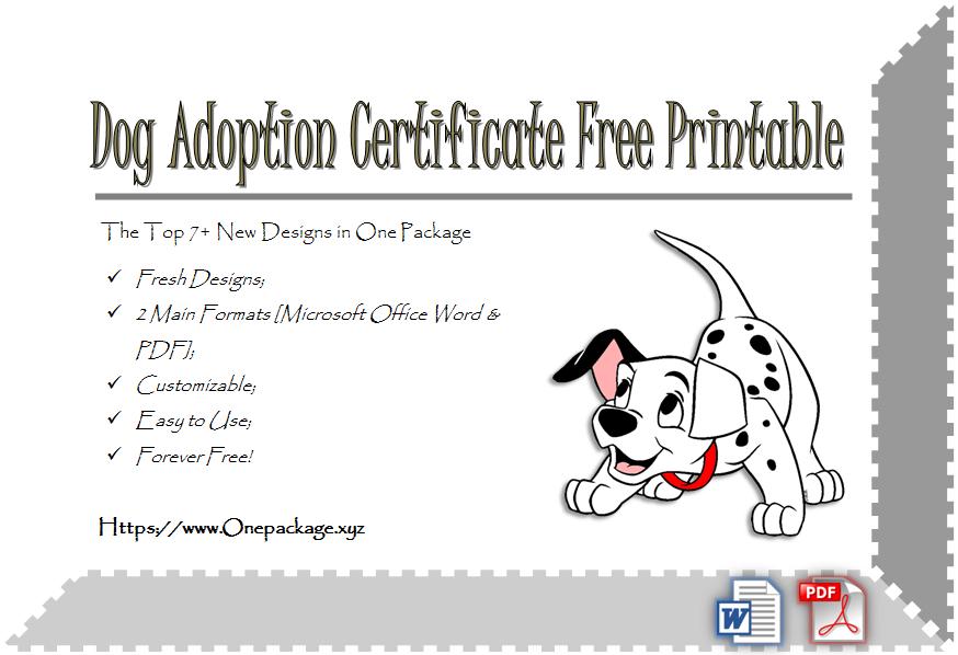 Dog Adoption Certificate Free Printable Ideas In 2020 | Dog regarding Best Dog Adoption Certificate Free Printable 7 Ideas