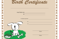 Dog Birth Certificate Template Download Printable Pdf regarding Puppy Birth Certificate Template