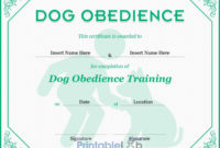 Dog Obedience Certificate Format In Onahau, Snowy Mint And with regard to Best Dog Obedience Certificate Template