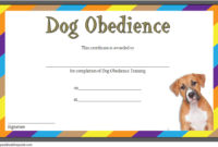Dog Obedience Training Certificate Template Free 1 | Dog throughout Best Dog Obedience Certificate Template