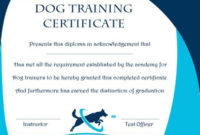 Dog Training Gift Certificate Template | Training with regard to Dog Obedience Certificate Template