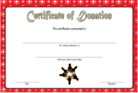 Donation Certificate Template Free 2 In 2020 | Certificate pertaining to Happy New Year Certificate Template Free 2019 Ideas