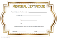Donation In Memory Of Certificate Template Free 1 In 2020 throughout Donation Certificate Template Free 14 Awards
