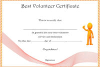Download Volunteer Certificates The Right Way (19 Free Word in Outstanding Volunteer Certificate Template