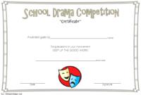 Drama Competition Certificate Template Free 3 Di 2020 with Drama Certificate Template Free 10 Fresh Concepts