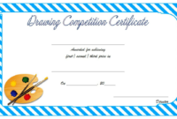 Drawing Award Certificate Template Free 1 In 2020 | Awards pertaining to Drawing Competition Certificate Templates