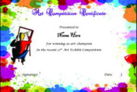 Drawing Competition Certificate | Max Installer pertaining to Drawing Competition Certificate Template 7 Designs