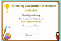Drawing Competition Certificate | Max Installer with Unique Drawing Competition Certificate Template 7 Designs